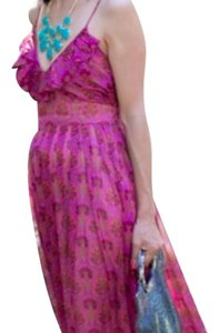 pink floral Maxi Dress by Aryn K