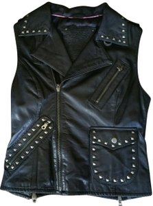 For Joseph Moto Leather Studded Leather Vest
