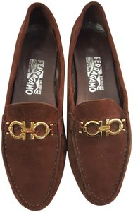 Salvatore Ferragamo Loafer Walking Suede Driving Brown Flats