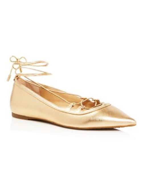 Item - Gold New Tabby Lace-up Flats Size US 10 Regular (M, B)