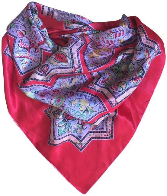 Item - Red Black Pink Yellow Medallion Print Scarf/Wrap