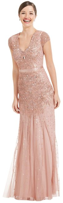 Preload https://item3.tradesy.com/images/adrianna-papell-blush-cap-sleeve-embellished-gown-long-formal-dress-size-4-s-22414247-0-1.jpg?width=400&height=650