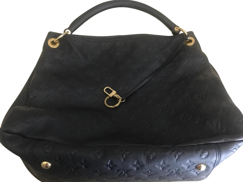 2f054aaa1f160 Louis Vuitton Infini Dark Navy Looks Black Monogram Empreinte Artsy  Shoulder Bag - Tradesy