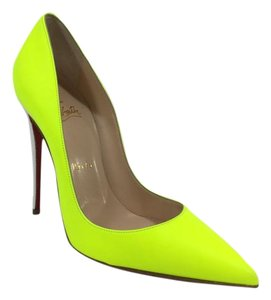 Christian Louboutin Neon Yellow Pumps