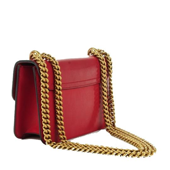 Gucci Chain Leather Crossbody Shoulder Bag Image 4