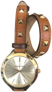 Michael Kors Michael Kors Slim Runway Leather Studded Watch
