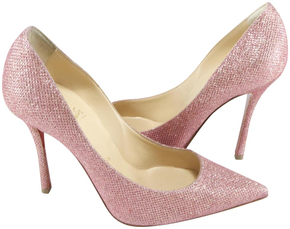 separation shoes 7a266 e0add Christian Louboutin Pink Decoltish Poudre Glitter 100 A400 Pumps Size EU  35.5 (Approx. US 5.5) Regular (M, B) 47% off retail