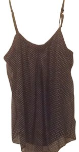 New York & Company Top Black Polka Dot