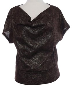 NY Collection Medium Large Lace Top bronze brown