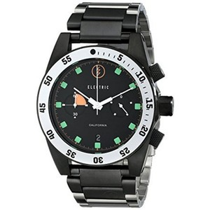 Electric EW0070010020 Men's Black Steel Band With Black Analog Dial Watch