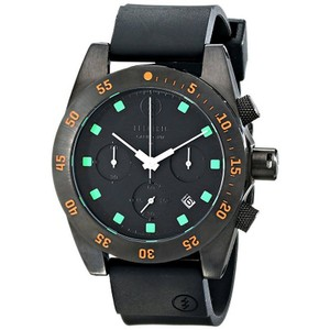 Electric EW0030030020 Men's Black Polyurethane Band With Black Analog Dial