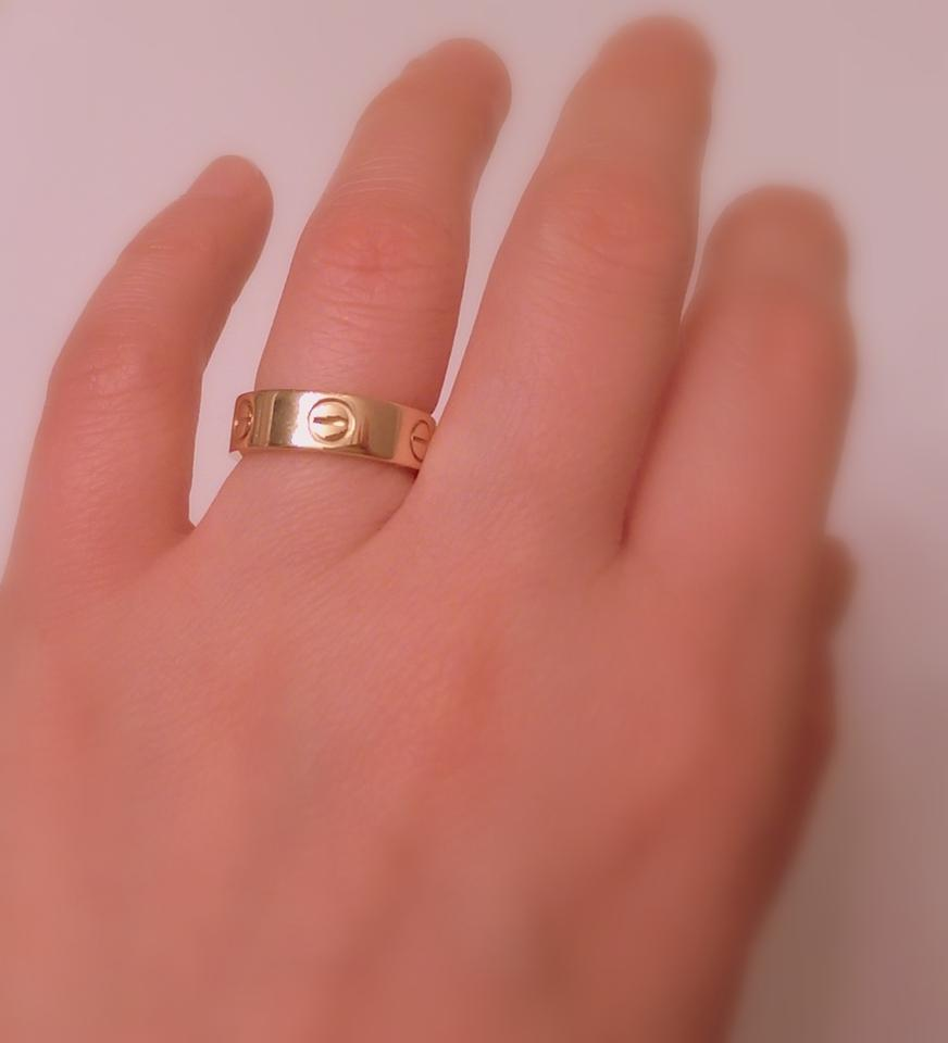 Cartier Gold In 18k Yellow Size 5.25 Ring - Tradesy