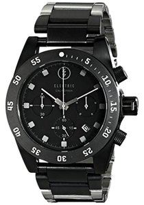 Electric EW0030010013 Men's Silver Steel Band With Black Analog Dial Watch