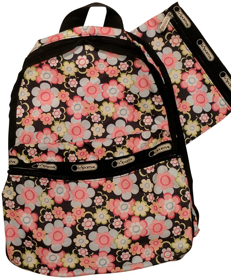 25086140a LeSportsac Light Weight Floral Multicolor Nylon Backpack - Tradesy