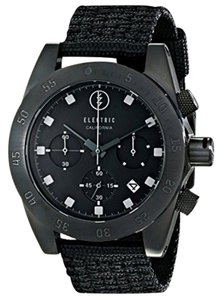 Electric EW0030020005 Men's Black Nylon Band With Black Analog Dial Watch