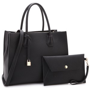 Anais Gvani Bags The Treasured Hippie Designer Inspired Large Affordable Classic Satchel in Black