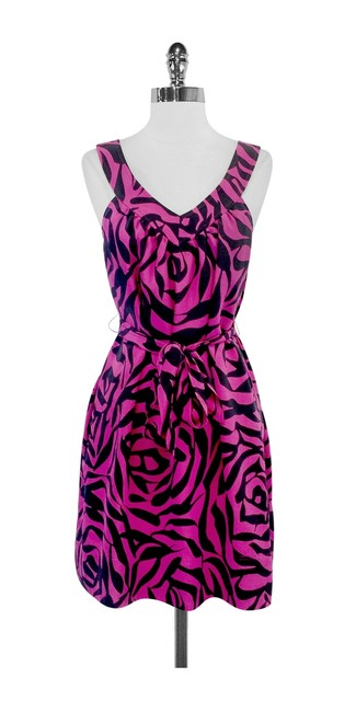 Preload https://item5.tradesy.com/images/marc-by-marc-jacobs-pink-and-gray-print-silk-tie-waist-mid-length-short-casual-dress-size-0-xs-2241579-0-0.jpg?width=400&height=650