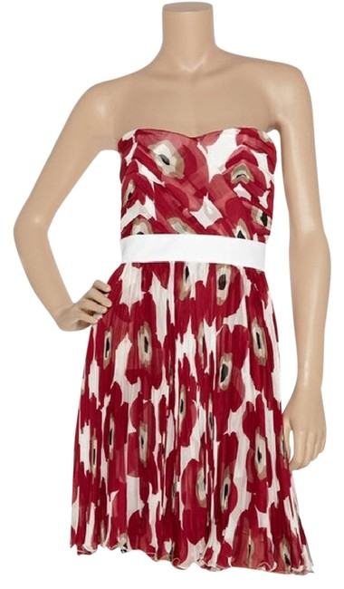 Item - Red White D&g Floral Print Short Casual Dress Size 0 (XS)