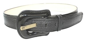 Fendi FENDI BLACK LEATHER BELT 90 /36