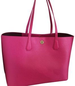 Tory Burch Tote in hibiscus/port flower
