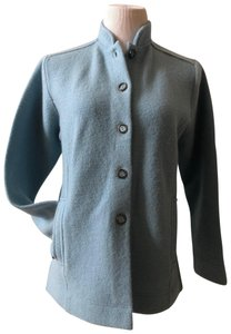 Norm Thompson Military Collar Baby Wool Wool Coat