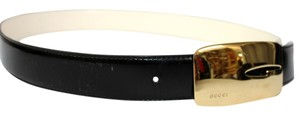 Gucci GUCCI BLACK & WHITE REVERSIBLE LEATHER BELT