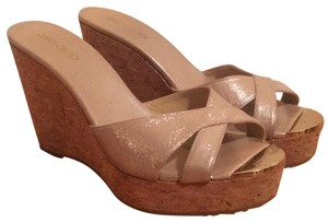 Jimmy Choo beige Wedges