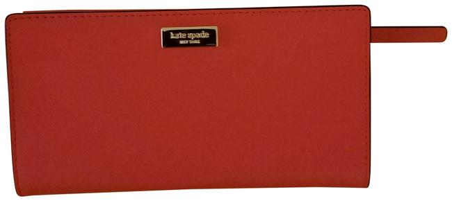 Item - New York Stacy Wallet Coral Red Saffiano Leather Clutch