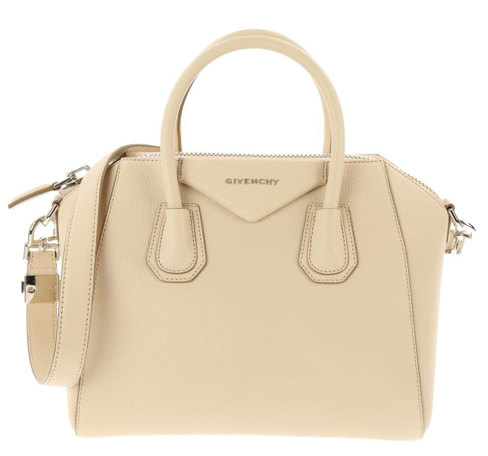 87575122dfd6 Givenchy Small Antigona Nude-pink Beige Goat Skin Leather Satchel ...