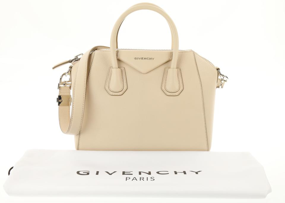 d8d2a22f08 Givenchy Small Antigona Nude-pink Beige Goat Skin Leather Satchel ...