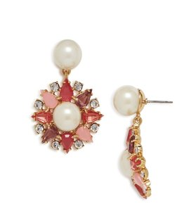 Kate Spade NWT KATE SPADE CATCH THE LIGHT DROP EARRING FAUX PEARL MULTI STIONE