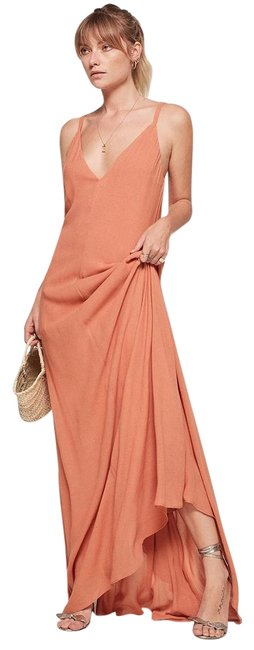 Item - Peach Angelina Long Formal Dress Size 4 (S)