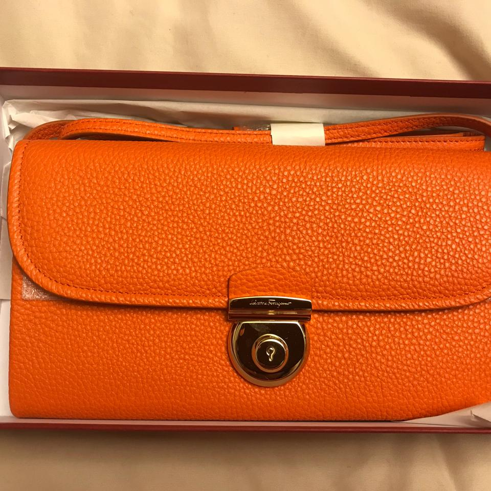 c95c838809e8 Salvatore Ferragamo Orange Leather Cross Body Bag - Tradesy