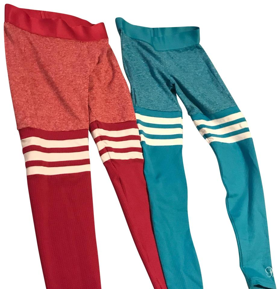 b92760c69399b Turquoise and Rose Bud Sock Activewear Bottoms Size 6 (S) - Tradesy