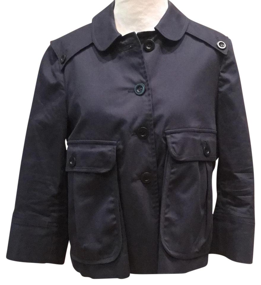 9e9c2784 See by Chloé Navy Blue Classic Mini Trench E30013 Jacket Size 8 (M) 93% off  retail