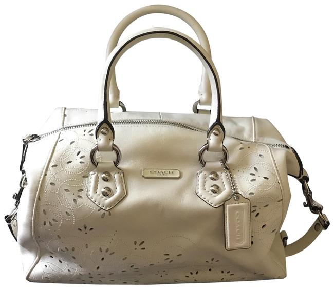 Coach 1941 Laser Perforated Parchment Leather Satchel Coach 1941 Laser Perforated Parchment Leather Satchel Image 1