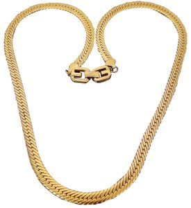 Givenchy Vintage Givenchy Herringbone Necklace Runway logo G clasp