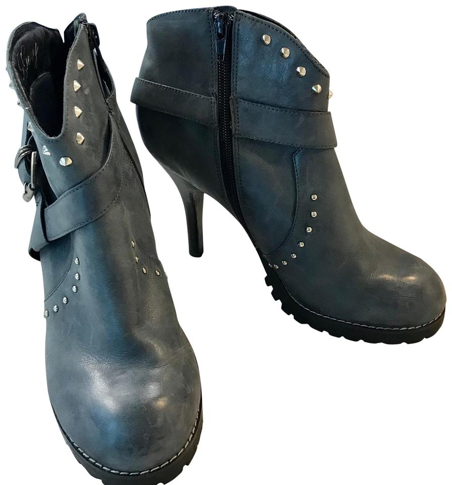 lady Envy Gray Studded Leather fashion Boots/Booties Modern and elegant fashion Leather 8ce8cd