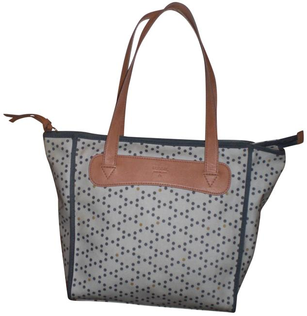 Item - Shoulder Bag Keyper Shopper Coral Owls Gray/Blue/ Tan Pvc Tote