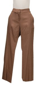 Diane von Furstenberg Center Seams Slant Pockets Straight Pants Pecan