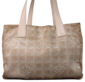 fe70a3aaa524 Chanel Travel Line Beige Tote in Taupe/copper Metallic Brown