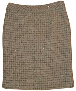 J.Crew Skirt Grey with metallic thread