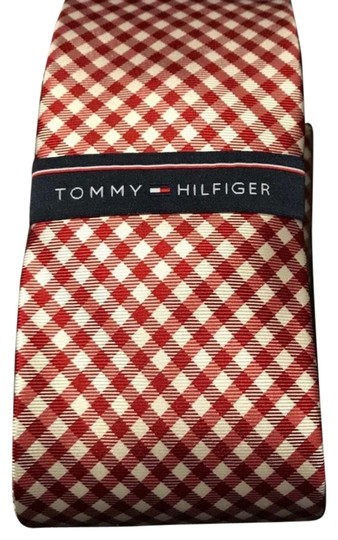 Preload https://img-static.tradesy.com/item/22418931/tommy-hilfiger-red-and-white-micro-gingham-picnic-design-tie-0-1-540-540.jpg