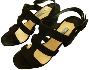 Prada Suede Italian Black Sandals