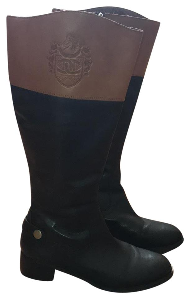 124e099350c Etienne Aigner Black with Tan Top W B4633l1900 E-chip-w Boots/Booties Size  US 7.5 Regular (M, B)