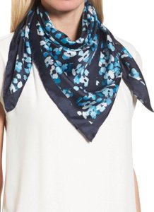 Kate spade scarves on sale up to 90 off at tradesy kate spade rich navy scenic floral silk scarf sciox Image collections