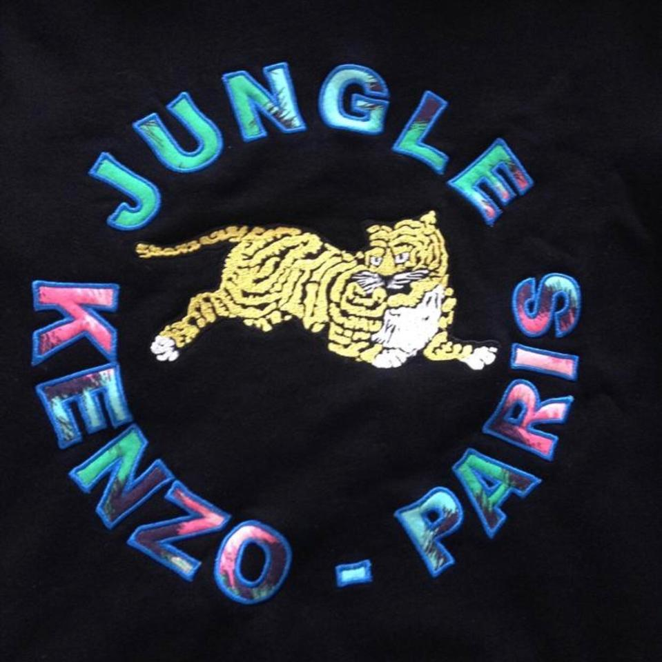 8f5d89b9287 Kenzo x H M Black Men s W  Jungle Paris Logo Sweatshirt Hoodie Size ...