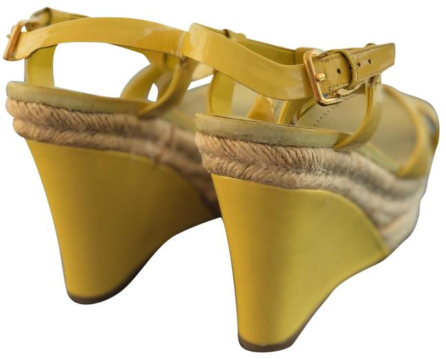 Item - Yellow Patent Leather Sandal Wedges Size EU 40 (Approx. US 10) Regular (M, B)