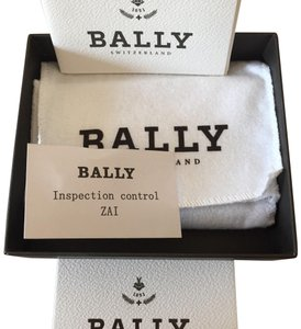 Bally mens black card holder