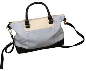 Tignanello Satchel in white, light blue and navy blue